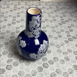 Avon Royal Blue Oriental Design Flower Vase Floral